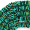 10mm - 18mm Graduated Turquoise Disc Button Beads 16