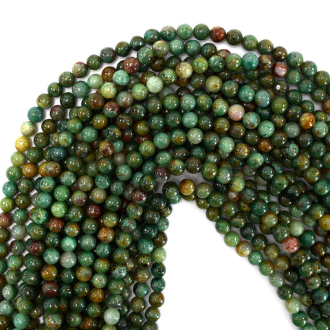 "10mm matte brown zebra jasper round beads 15"" strand"