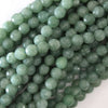 Faceted Burma Colored Jade Round Beads 15