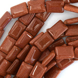 14mm goldstone rectangle beads 15.5