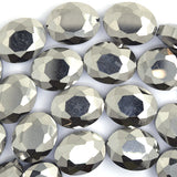 15x20mm faceted crystal flat oval beads 15