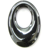 2 pieces 24x34mm hematite gogo donut oval pendant
