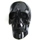 2 pieces 50mm black acrylic resin skull pendant beads