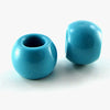 10 pieces 15mm blue turquoise beads with 6mm hole