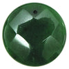 2 pieces 40mm faceted emerald green jade coin bead pendant
