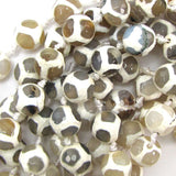 12mm faceted agate round beads 14