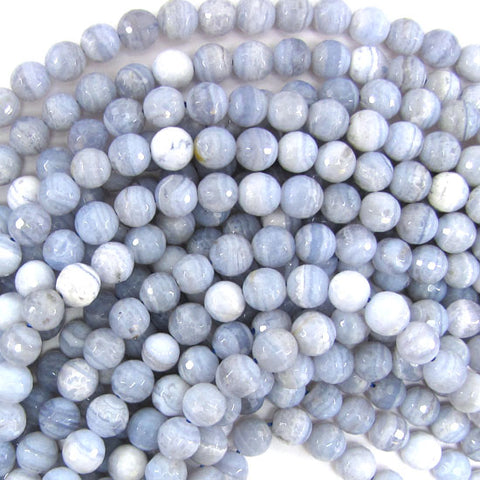 "6mm blue crab fire agate round beads 14.5"" strand"