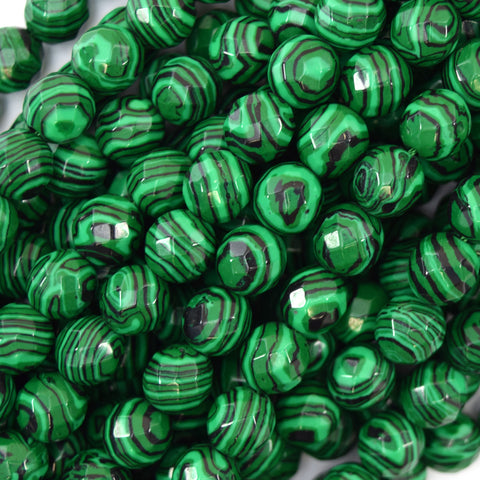 "12x16mm synthetic green malachite flat teardrop beads 15.5"" strand"