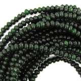6mm Canada green jade rondelle beads 15