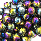12mm faceted quartz round beads 14