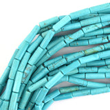 13mm blue turquoise tube beads 15.5