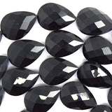 17x24mm faceted crystal flat teardrop beads 15.5