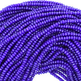 3mm faceted blue jade rondelle beads 14.5