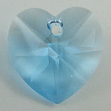 2 pieces 18mm Swarovski crystal heart pendant 6202 aquamarine