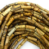 13mm picture jasper tube beads 16