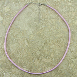 3mm lavender silk cord necklace 18