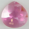 30mm faceted CZ cubic zirconia briolette pendant pink