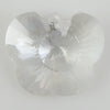 25mm faceted CZ cubic zirconia buttefly pendant clear