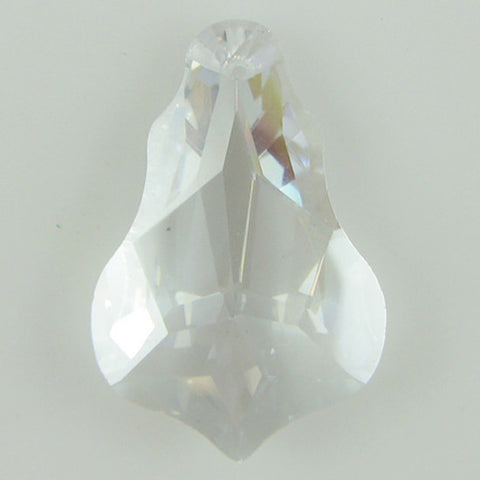 25mm faceted CZ cubic zirconia buttefly pendant khaki