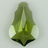 30mm faceted CZ cubic zirconia baroque pendant khaki