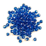 12 4mm Swarovski crystal round 5000 Capri blue
