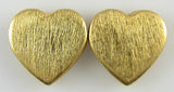 19mm vermeil 925 sterling silver heart pendant 2pcs