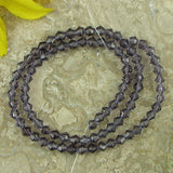 4mm purple crystal glass bicone beads 13
