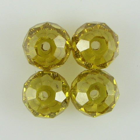 30mm faceted CZ cubic zirconia baroque pendant citrine