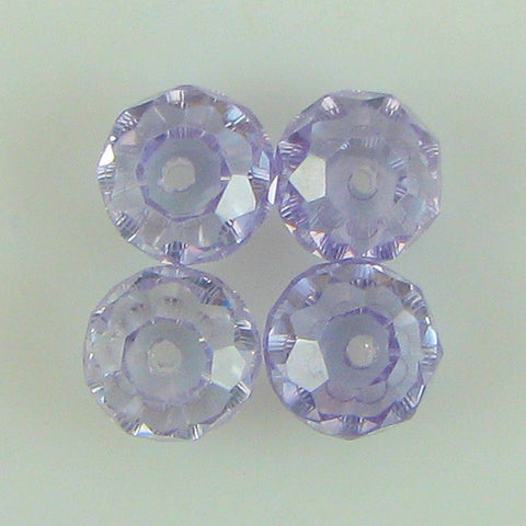 30mm faceted CZ cubic zirconia baroque pendant violet