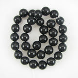 12mm black shell pearl round beads 8