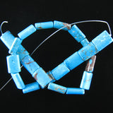 18mm blue turquoise pillow rectangle beads 16