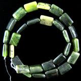 14mm Canada jade rectangle beads 16