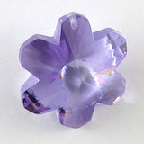 20mm faceted CZ cubic zirconia flower pendant purple