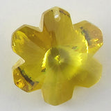 20mm faceted CZ cubic zirconia flower pendant citrine