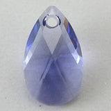 16mm Swarovski crystal teardrop pendant 6106 tanzanite