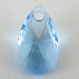 16mm Swarovski crystal teardrop pendant 6106 aquamarine