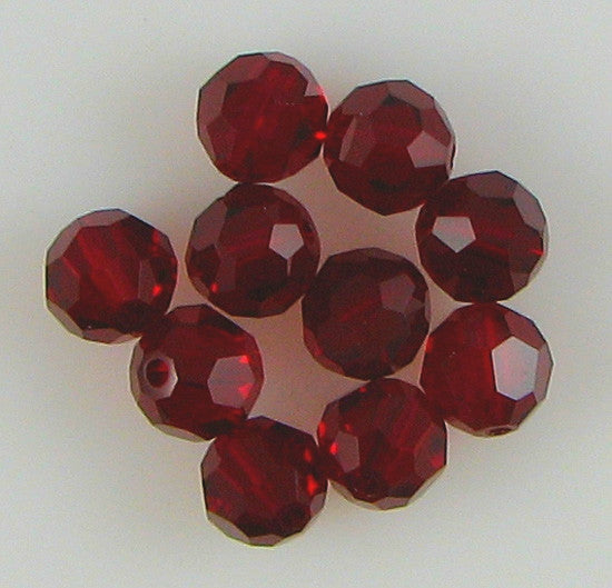 10 6mm Swarovski crystal round 5000 Siam beads