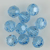 10 6mm Swarovski crystal round 5000 Aquamarine beads