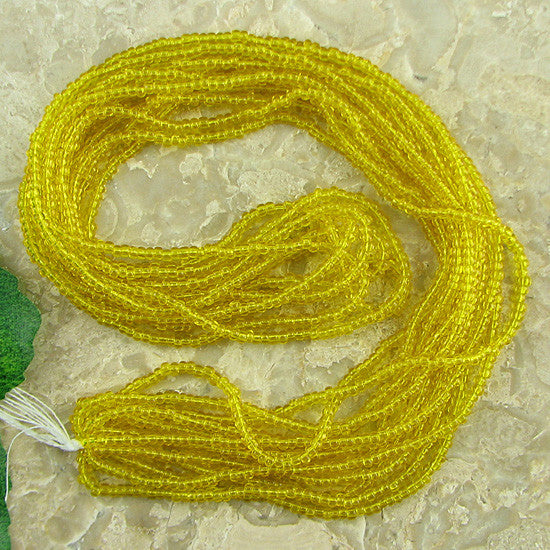 Jablonex Czech seed beads 11/0 yellow tr mini hank