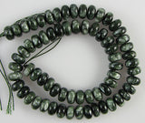 10mm Russian seraphinite rondelle beads 16