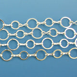 10mm silver plated copper ring chain one foot findings