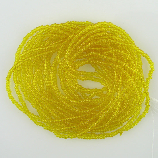Jablonex Czech seed beads 11/0 TR yellow mini hank