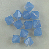 12 8mm Swarovski crystal bicone 5301 Air Blue Opal