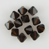 12 8mm Swarovski crystal bicone 5301 Mocca beads