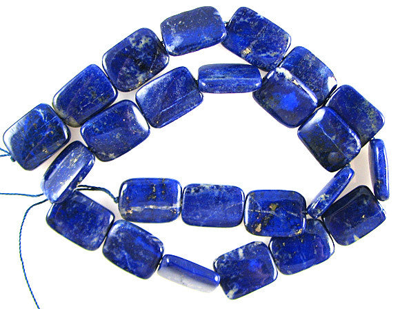 "AA+ 16mm lapis lazuli rectangle beads 16"" strand"