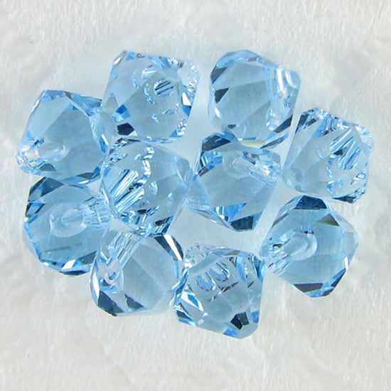 10 6mm Swarovski crystal bicone 6301 Aquamarine beads