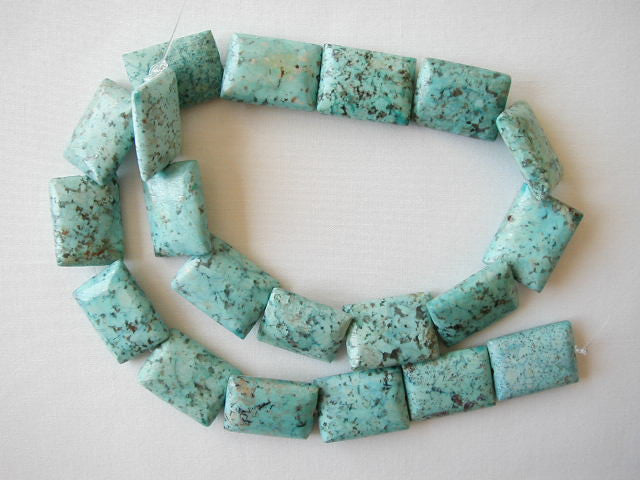 "20mm chrysocolla rectangle beads 16"" strand"