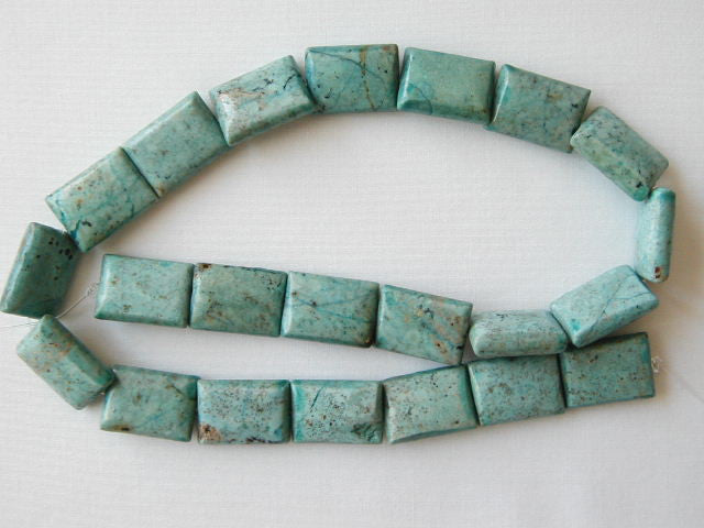 "18mm chrysocolla rectangle beads 16"" strand"