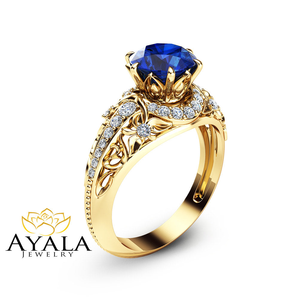 jewellery blue product in liliandesigns handmade sapphire by gold ring engagement original lilia nash