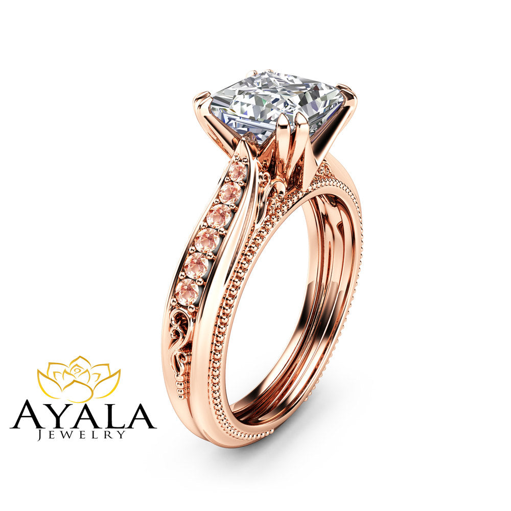 combination ring van rings finger between cleef vcar alhambra pink copy stone lucky the arpels gold